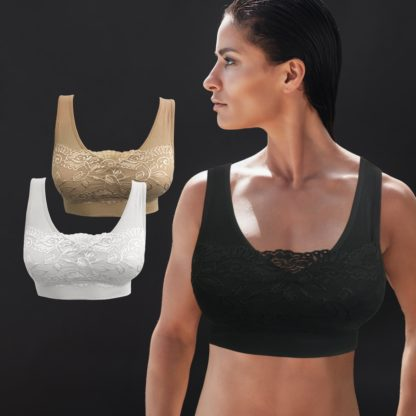 Comfort Bra - pakke med 3 stk. (BH med blonder)