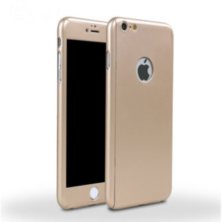 Full body cover til iPhone 6/6S. Inkl skærmbeskyttelse. Gold.