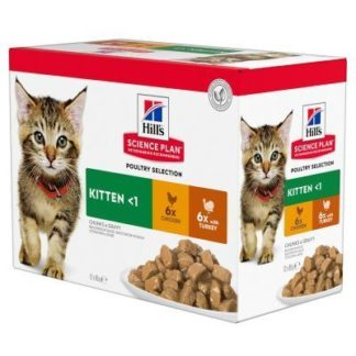 Hills portionspose 12x85g Kitten Poultry