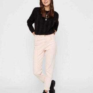 Pieces - Leah Mom HW Jeans - Sea Pink - XS