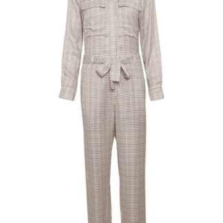 Soaked In Luxury - Jumpsuit - Kaia Jumpsuit - Antique White Check
