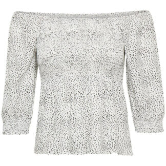GESTUZ CATHRINGZ SMOCK BLUSE (White With Black Dot 90269, 34)