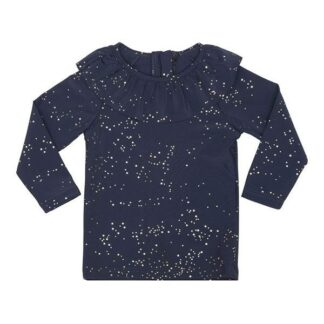 Konges Sløjd UV Flæse Bluse - Navy/Gold